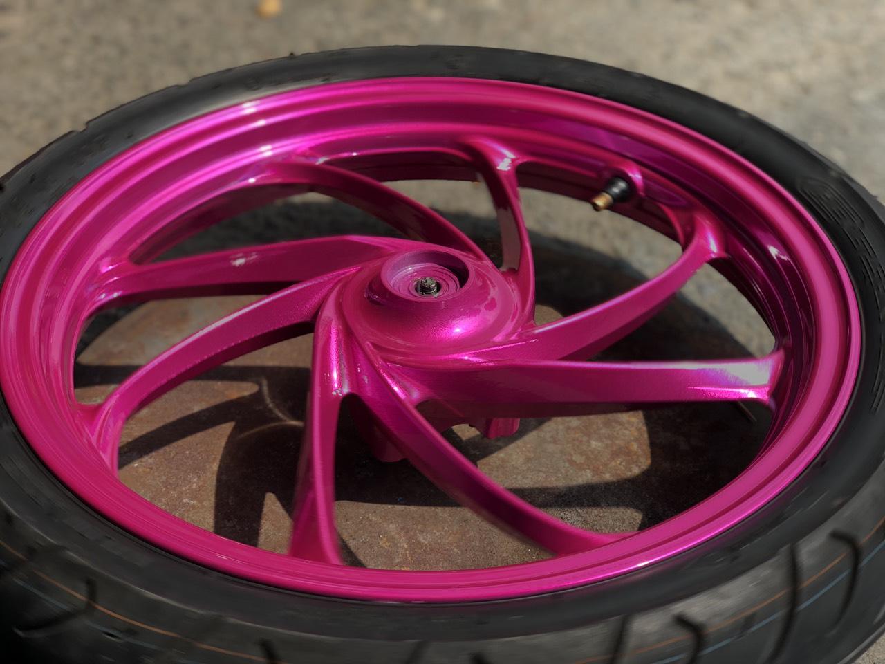 Sơn mâm xe winner màu hồng cực đẹp