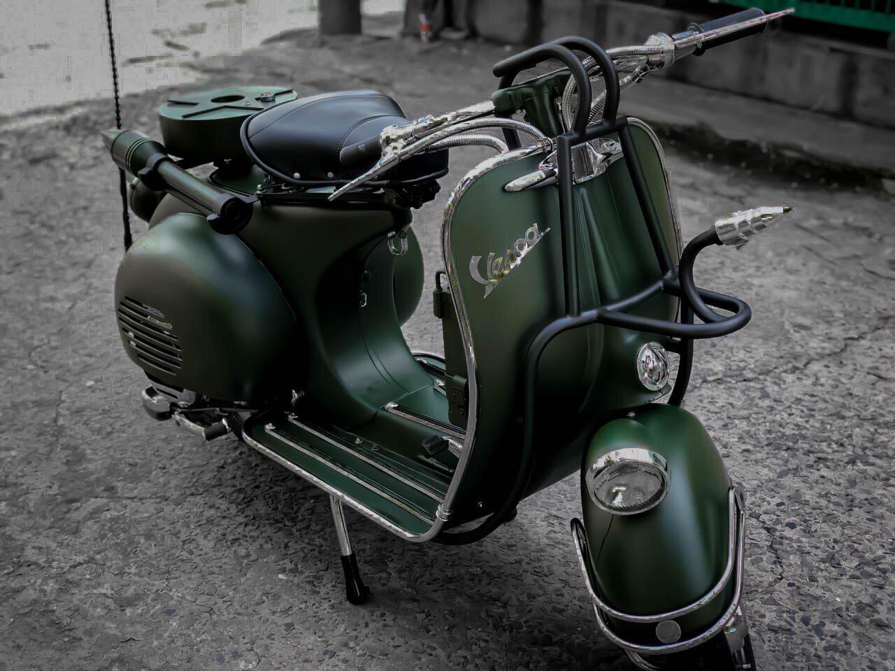 Sơn xe Vespa phong cách cổ điển