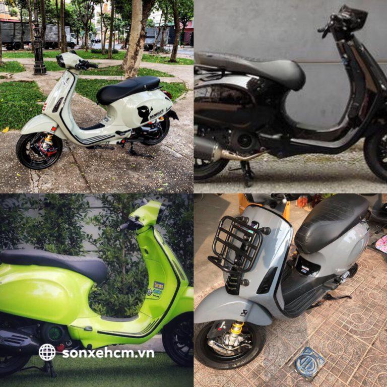 Dịch vụ sơn xe vespa chuyên nghiệp - sonxehcm.vn