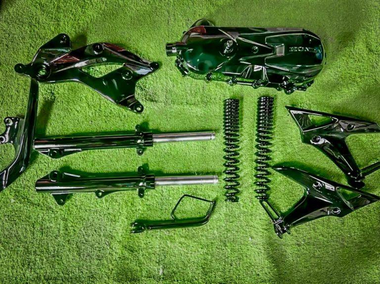 Sơn Sporty Cho Air Blade Đen Bóng